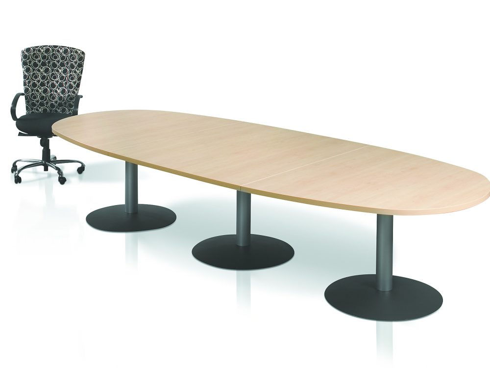 Andre - Oval Boardroom Glass reception top 007